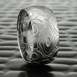 Damascus Steel Premium Patterned Ring  DIAMONDBACK