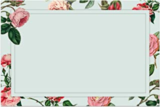 48 Shabby Chic Floral Notecards, 4x6 in. (Blue Floral)