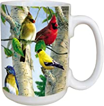 Tree-Free Greetings LM45507 Favorite Songbirds 15 Ounce Ceramic Coffee Mug with Full Sized Handle