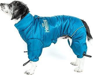 DogHelios 'Thunder-Crackle' Full-Body Bodied Waded-Plush Adjustable and 3M Reflective Pet Dog Jacket Coat w/Blackshark Technology