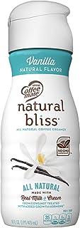 COFFEE MATE NATURAL BLISS Vanilla All-Natural Liquid Coffee Creamer, 16 fl. oz. Bottle Dairy Creamer