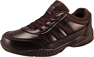 Action Shoes Synergy Boy's and Girl's Brown Synthetic School Shoes (5)