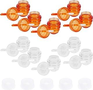 Lurrose Tubos de 10 Peças de Batom Tubos de Brilho Labial Com Escova Labial Em Forma de Favo de Mel Frascos de Bálsamo Lab...