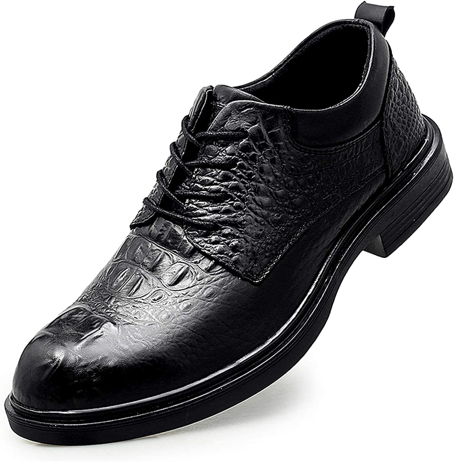 Popular popular Charlotte Mall Men's Oxford Shoes Business Leather Lace Crocodile Fau Embossed