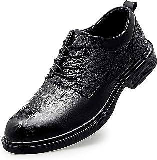 Business Oxford Chaussures pour Hommes Crocodile en cuir Véritable Crocodile Engrossette Lacet Tapot Tap Tap Rond Toile à ...