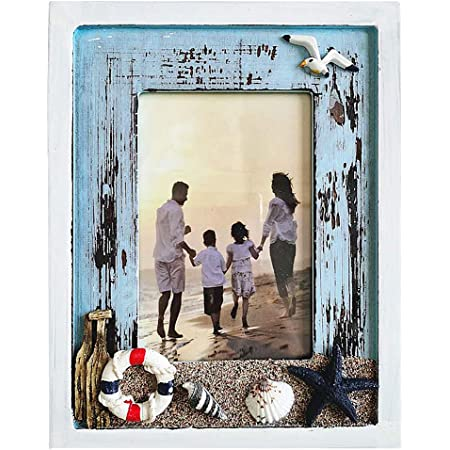 Amazon Com Beach Picture Frames 4 X 6 Muamax Ocean Photo Frame 4 By 6 Wooden Weathered Frames Coastal Frames Nautical Photo Stand Marine Decor Gifts