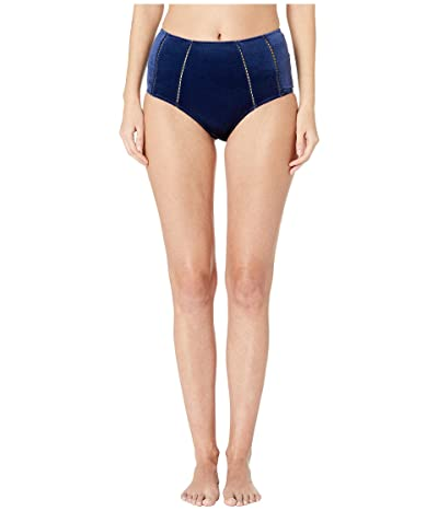 Jonathan Simkhai Velvet High-Waisted Bikini (Midnight) Women