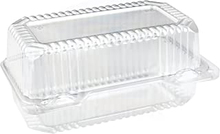 Disposable Plastic Hinged Loaf/Small Hoagie Container by MT Products (Pack of 40)