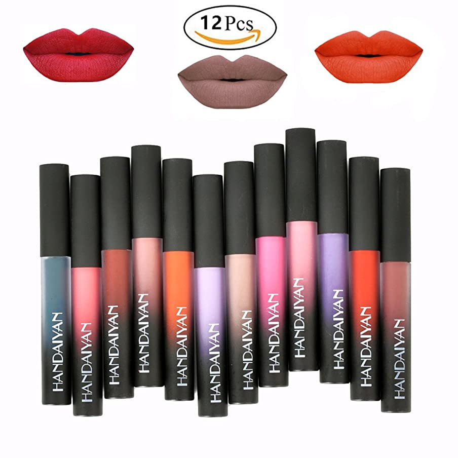 アプローチ異なる取る12 Colors Waterproof Long Lasting Durable Matte Liquid Lipstick Beauty Lip Gloss | Sexy Fashionable Colors Lipsticks Set