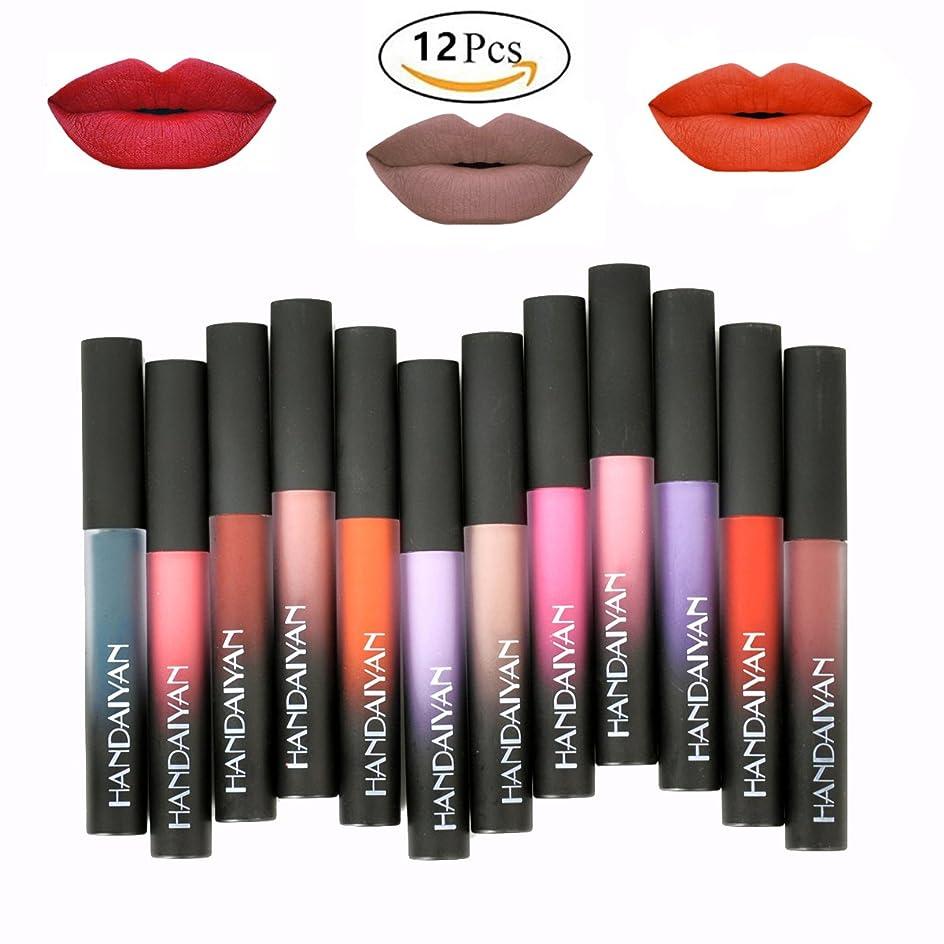 12 Colors Waterproof Long Lasting Durable Matte Liquid Lipstick Beauty Lip Gloss   Sexy Fashionable Colors Lipsticks Set