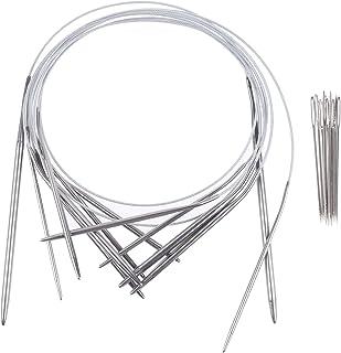 Xgood 11 Sizes Circular Knitting Needles Stainless Steel Knitting Needles with 11 Pieces Needles for Home Weave Knitting S...