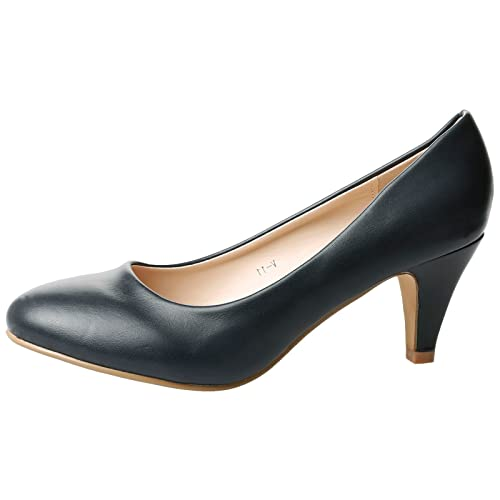 factory authentic casual shoes sleek Womens Navy Court Shoes: Amazon.co.uk