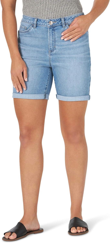 訳あり Lee 特売 Women's Legendary Regular Fit Rolled Short Rise Mid Bermuda
