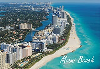 Miami Beach, Florida, City, Skyline, FL, Beach, Souvenir Magnet 2 x 3 Photo Fridge Magnet
