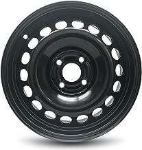 Road Ready Car Wheel For 05-06 Pontiac Pursuit 07-10 Chevrolet Cobalt Pontiac G5 15x6 Inch 4 Lug Black Steel Rim Fits R15 Tire - Exact OEM Replacement - Full-Size Spare