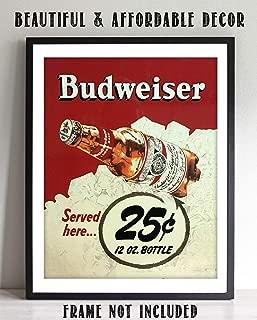 Budweiser Beer-Vintage Sign Poster Print-