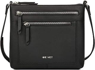 حقيبة طويلة تمر بالجسم من ناين ويست للنساء - اسود