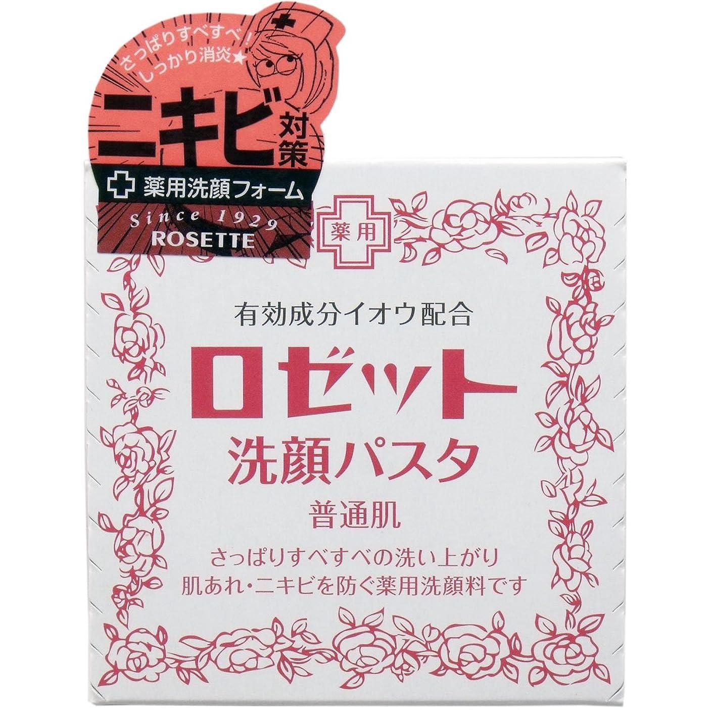 連合店員カヌー【まとめ買い】ロゼット 洗顔パスタ 普通90g ×2セット
