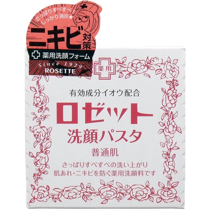 振動させる寄り添う溶かすロゼット 洗顔パスタ(普通肌) 90g(医薬部外品)(お買い得3個セット)