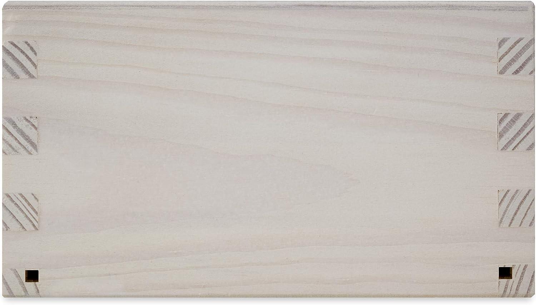 Rettangolare Bianca Dispenser Perfetto per Decoupage Decorazione Stoccaggio Fondo Scorrevole Creative Deco Porta Fazzoletti Salviette Carta Scatola in Legno 25 x 13 x 9 cm Bagno