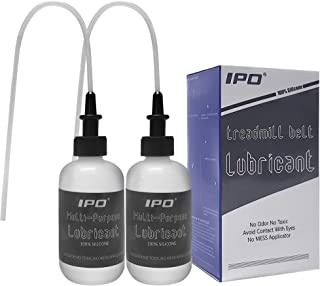 IPO Multi-Purpose Lubricant(4oz Bottle) Treadmill Lube 100% Pure Silicone with Applicator Tube Easy to Use Squeeze for Bike Chains, Hinges