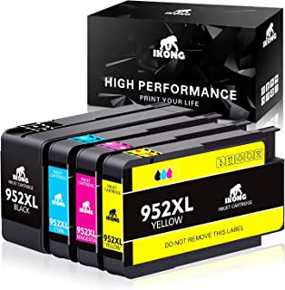 IKONG 952 Compatible Replacement for HP 952XL Ink cartridges Combo Pack for HP OfficeJet Pro 8710 8720 8740 8730 7740 8210 8715 8216 8725 8702 Printer (4-Pack)