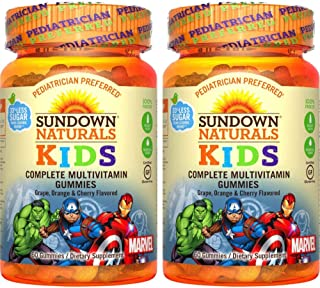 Marvel Avengers Multivitamin Gummies Assorted Flavors - 60 ct, Pack of 2