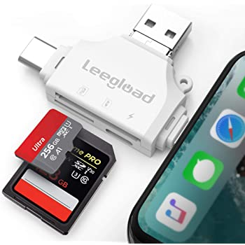 Yiiena Mini Portable With Hang Buckle Metal TF Card Type-C Card Reader Internal Memory Card Readers
