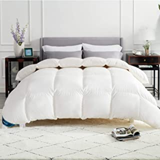 Bedsure Daunendecke Warm 200x200 Bettdecke - Federdecke Oeko-Test Zertifiziert für allergikergeeignet, Winterdecke 90% Daunen und 10% Federn, Daunen Steppdecke Weiß