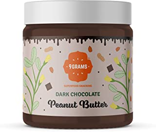 9GRAMS Dark Chocolate Peanut Butter | Super Creamy | 80% Peanuts