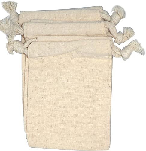 """popular NaturOli Soap Nuts Laundry Wash Bags (Set of 3) - (3-1/4"""" x 4-1/2"""") Muslin, lowest Unbleached, new arrival Double-Draw & Edge-Stitched. UNPRINTED! 100% Natural. sale"""