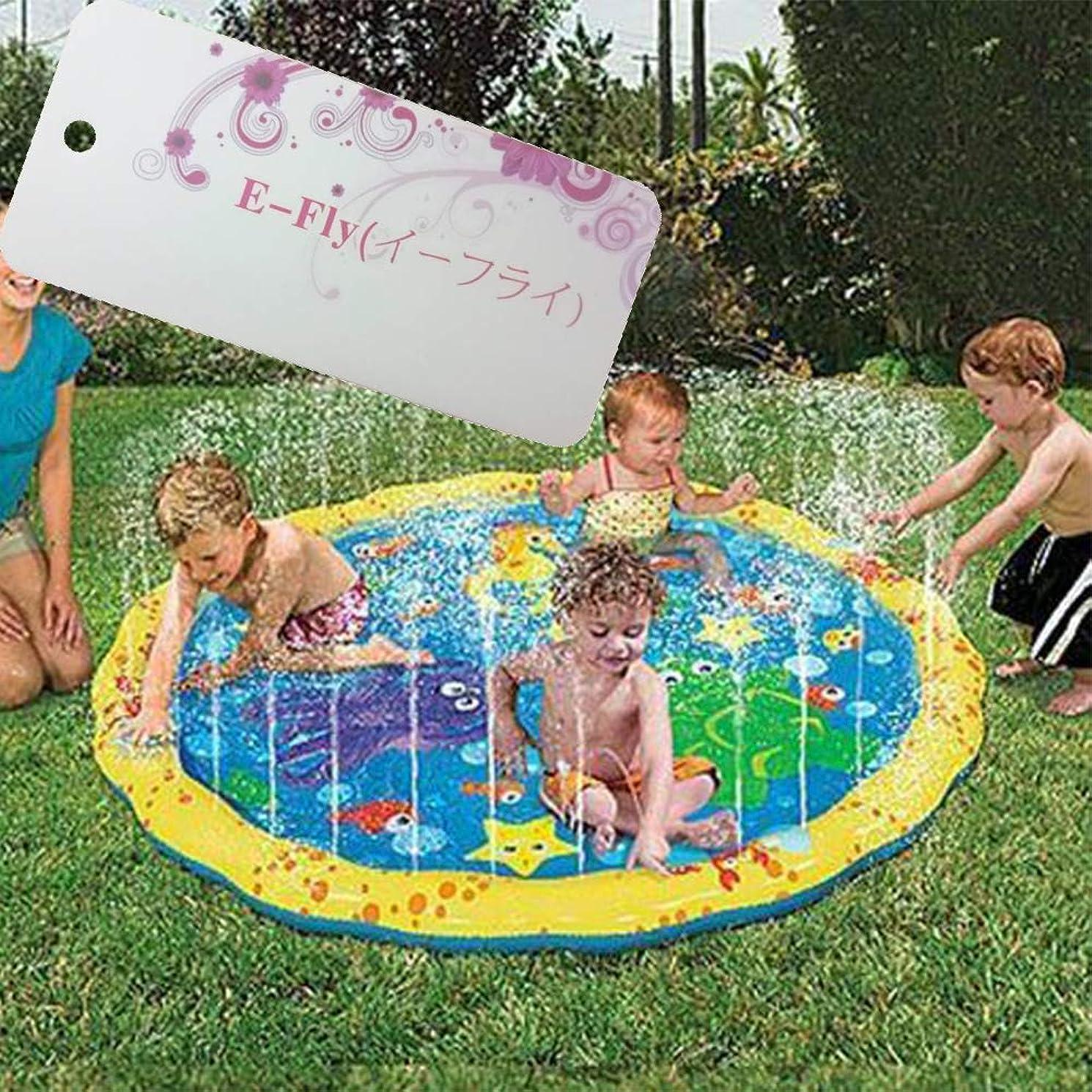 妖精胸協同プレイマット ウォーター プレイ アウトドア 芝生遊び 水 夏の日 子供用 おもちゃ 噴水マット ふんすい 庭 家庭用 キッズ 水遊び 噴水池 噴水できる