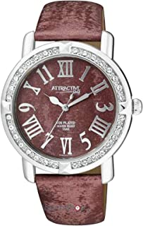 Q&Q Dress Watch For Women Analog Brown - DA93J315Y