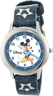 Disney Kids' W000015 Mickey Mouse Stainless Steel Time...