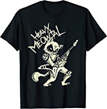 Heavy Metal Cats Gift Clothing Guitar Playing Cat Gothic  T-Shirt
