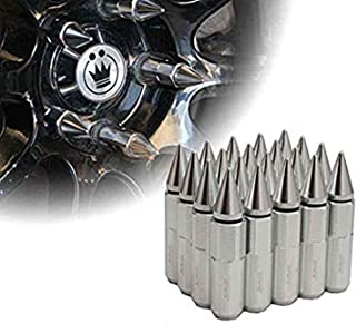 AutoTrends® 20pcs M12x1.5 Silver Car Spiked Lug Wheel Nuts Extended Tuner