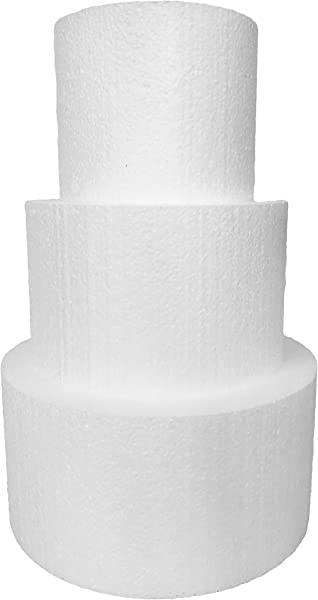 Round 5 Cake Dummies Set Of 3 Each 5 High By 6 8 10 Round