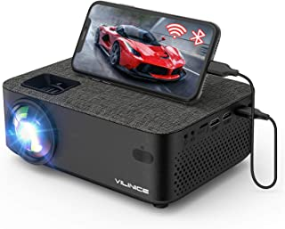 WiFi Projector,VILINICE 5000L Mini Bluetooth Movie Projector ,Portable Phone Projector with Wireless Mirroring,1080P and 2...