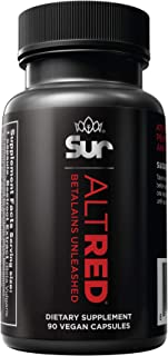 AltRed: 25% Betalain Extract, 90 Capsules, Athletic Endurance & Recovery Supplement, Beetroot, Vegan, Plant-Based, No Suga...