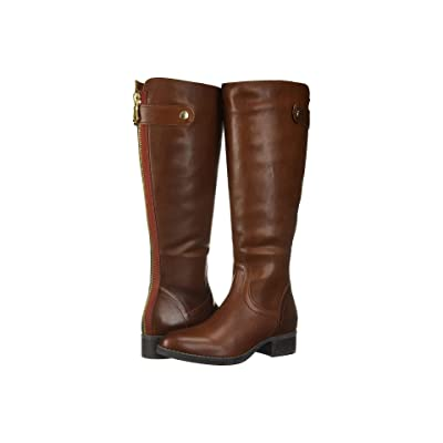 Steve Madden Journal Riding Boots (Cognac Leather) Women