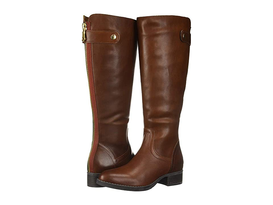 Steve Madden Journal Riding Boots (Cognac Leather) Women