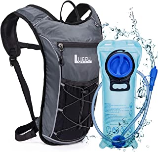 Luffy Hydration Backpack with 2L BPA Free Water Bladder - Lightweight Pack for Running Hiking Riding Cycling Climbing