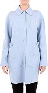 Boutique Moschino Luxury Fashion Womens A068061010293 Light Blue Coat   Season Outlet