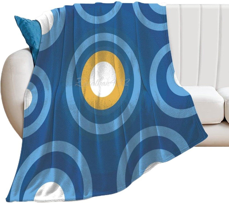 Novelty Free Shipping Cheap Bargain Gift Plush Blanket Carpet Denver Mall Geometr Blue Graphics Illustration