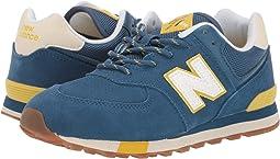 NB Dark Blue/Chartreuse