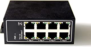 WIWAV WDH-8ET-DC 10/100Mbps Unmanaged 8-Port Industrial Ethernet Switches with DIN Rail/Wall-Mount(Fanless,-30℃~75℃)