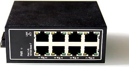 WIWAV WDH-8ET-DC 10/100Mbps Switches Ethernet industriales de 8 Puertos no administrados con riel DIN/Montaje en Pared (sin Ventilador, -30 ℃ ~ 75 ℃)