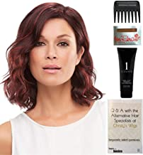 Bundle - 5 items: Scarlett Large Cap Wig by Jon Renau, Christy's Wigs Q & A Booklet, 2oz Travel Size Wig Shampoo, Wig Cap & Wide Tooth Comb - Color: 6F27