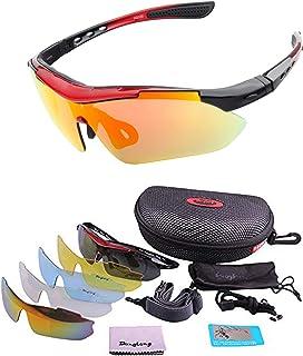 BangLong 偏光レンズ スポーツサングラス フルセット UV400 紫外線をカット 交換レンズ 5枚 ユニセックス 5カラー ジョギング/自転車/運転/釣り/野球/テニス/スキー/ランニング/ゴルフ/マラソン