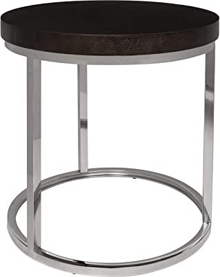 Safavieh Couture Collection Turner Black Glass Top Round End Table